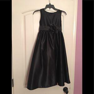 Girls Black Formal Gown